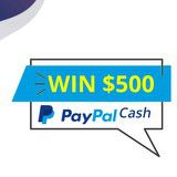 Win $500 cash from paypal