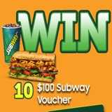 Win $100 Subway Vouchers