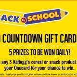Win a $100 Countdown Gift Card