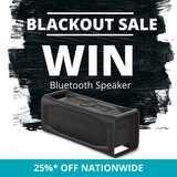 Win a Black Bluetooth Aquaphonics Speaker