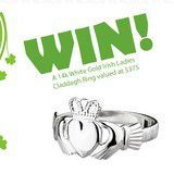 Win a Ladies 14k White Gold Maids Claddagh