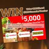 Win a Weber Q2200 BBQ kit + $5,000 groceries voucher